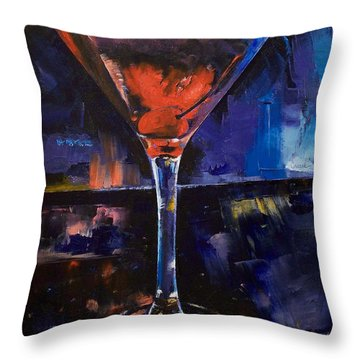 Backstage Martini Throw Pillow by Michael Creese