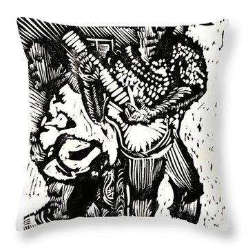 Backyard Music Throw Pillow by Seth Weaver
