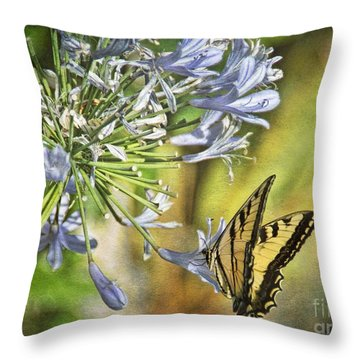 Backyard Nature Throw Pillow by Peggy Hughes