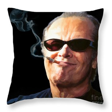 Bad Boy Throw Pillow by Paul Tagliamonte