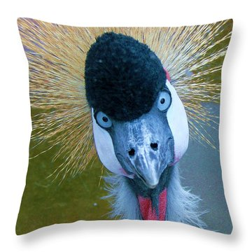 Bad Hair Day Throw Pillow by Margaret Bobb