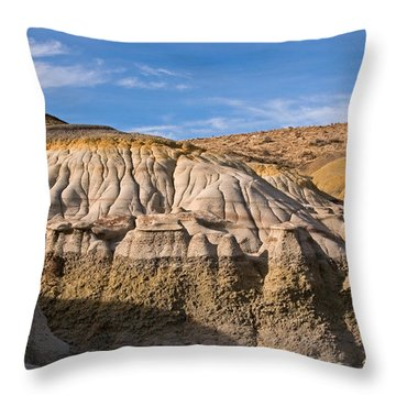 Badlands Erosion Throw Pillow by Vivian Christopher