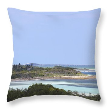 Bahia Honda Throw Pillow by Rudy Umans