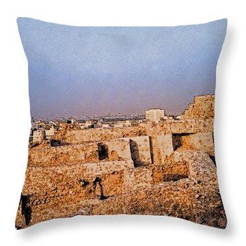 Bahrain Fort  Throw Pillow by First Star Art