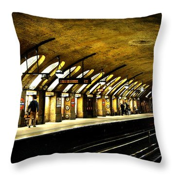 Baker Street London Underground Throw Pillow by Mark Rogan