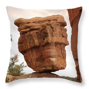 Balanced Rock Throw Pillow by Mike McGlothlen