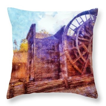 Bale Grist Mill Throw Pillow by Kaylee Mason