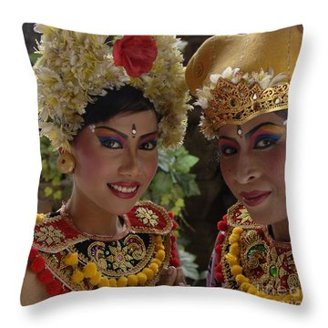 Bali Beauties Throw Pillow by Bob Christopher