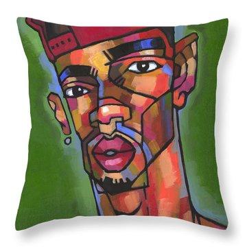 Baller Throw Pillow by Douglas Simonson