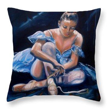 Ballerina II Throw Pillow by Donna Tuten