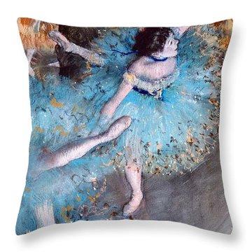 Ballerina On Pointe  Throw Pillow by Edgar Degas