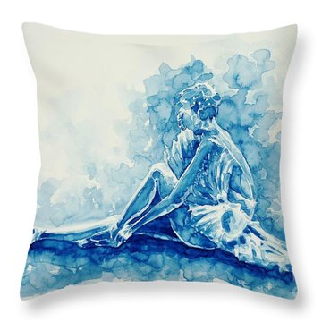 Ballerina  Throw Pillow by Zaira Dzhaubaeva