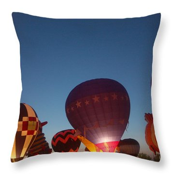 Balloon-glow-7808 Throw Pillow by Gary Gingrich Galleries