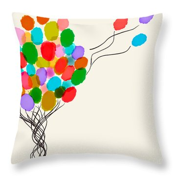 Balloons For Sale Throw Pillow by Anita Lewis