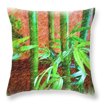 Bamboo #1 Throw Pillow by Luther   Fine Art