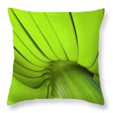 Banana Bunch Throw Pillow by Heiko Koehrer-Wagner
