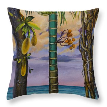 Banana Country Throw Pillow by Vrindavan Das