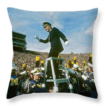 Band Director Throw Pillow by James L. Amos