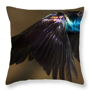Bandit Throw Pillow by Bill Wakeley