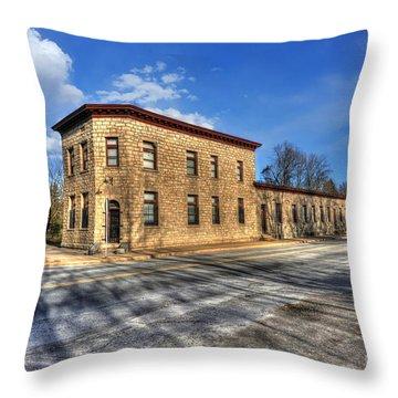 Bank Of Glen Jean Throw Pillow by Dan Friend