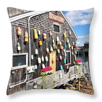 Bar Harbor Restaurant Throw Pillow by Betty LaRue