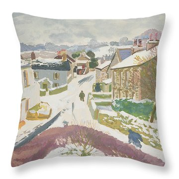 Barbon In The Snow Throw Pillow by Stephen Harris