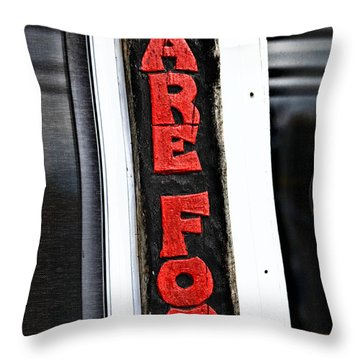 Bare Foot Throw Pillow by Karol Livote