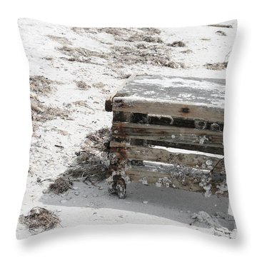 Barnacles On The Beach Throw Pillow by Georgia Fowler