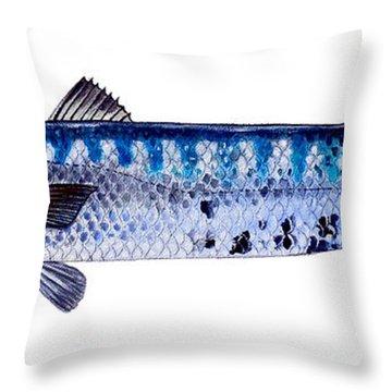 Barracuda Throw Pillow by Carey Chen