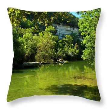 Barton Creek Greenbelt  Throw Pillow by Mark Weaver