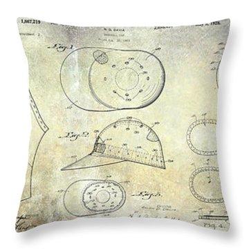 Baseball Patent Panoramic Throw Pillow by Jon Neidert