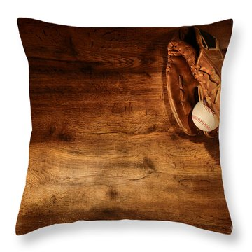 Baseball Throw Pillow by Olivier Le Queinec