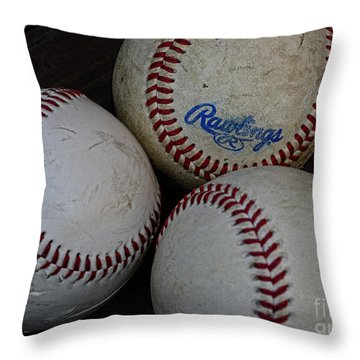 Baseball - The American Pastime Throw Pillow by Paul Ward