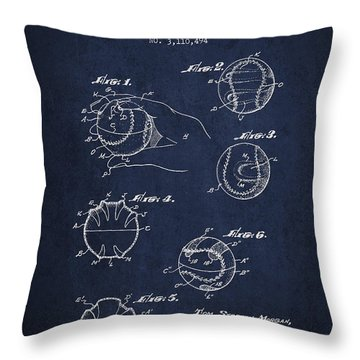 Baseball Training Device Patent Drawing From 1963 Throw Pillow by Aged Pixel