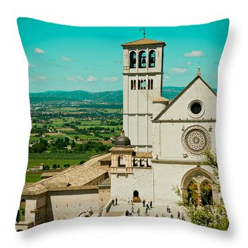Basilica Of San Francesco Assisi  Throw Pillow by Raimond Klavins