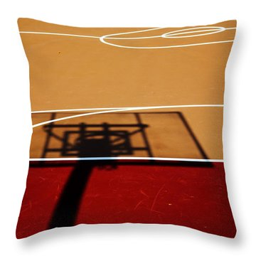 Basketball Shadows Throw Pillow by Karol Livote