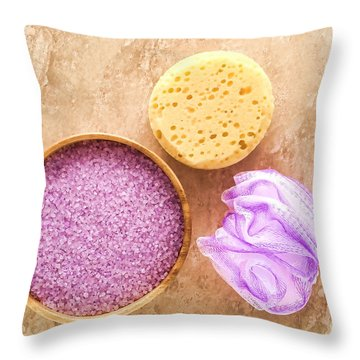 Bath Accessories Throw Pillow by Olivier Le Queinec