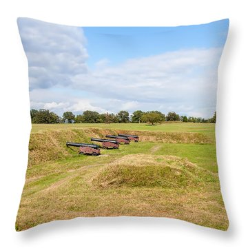 Battle Of Yorktown Battlefield Throw Pillow by John M Bailey