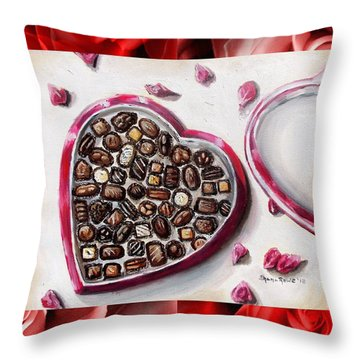 Be My Valentine Throw Pillow by Shana Rowe Jackson