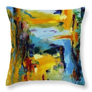 Beach Houses Throw Pillow by Regina Valluzzi