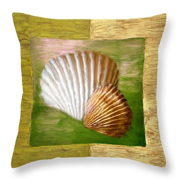 Beach Memoirs Throw Pillow by Lourry Legarde