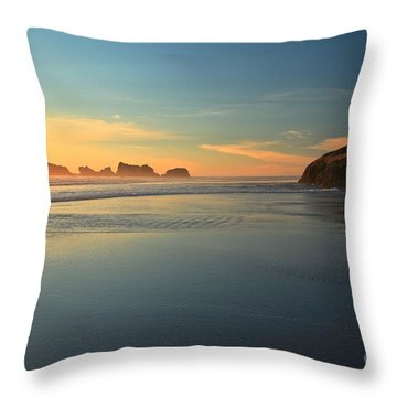 Beach Rudder Throw Pillow by Adam Jewell