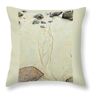Beach Sand 4   Throw Pillow by Marcia Lee Jones