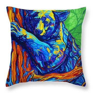 Bear Hug Throw Pillow by Derrick Higgins