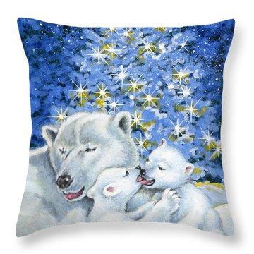 Bear Hug Throw Pillow by Richard De Wolfe