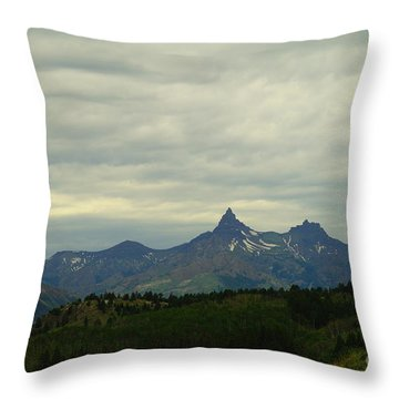 Beartooth Mountain Montana Throw Pillow by Jeff Swan