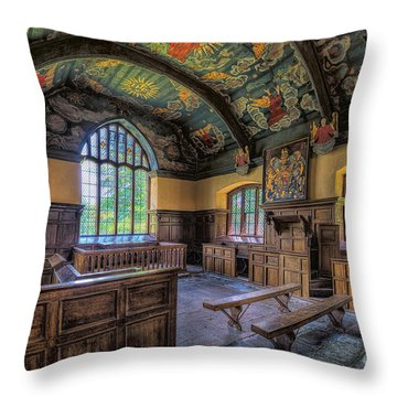Beautiful 17th Century Chapel Throw Pillow by Adrian Evans
