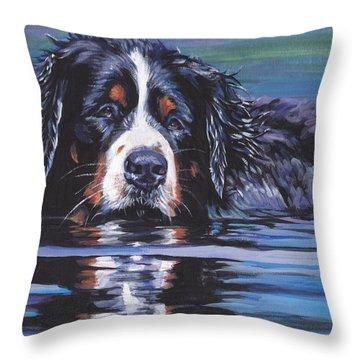 Beautiful Berner Throw Pillow by Lee Ann Shepard