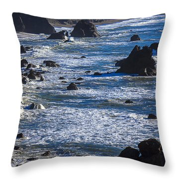 Beautiful California Coast Throw Pillow by Garry Gay