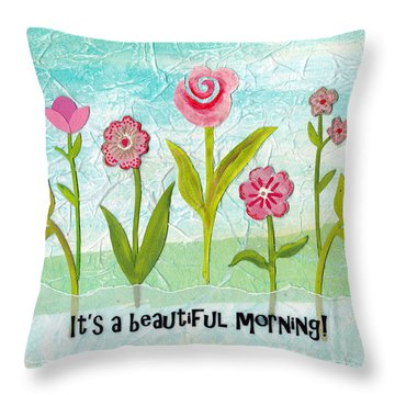 Beautiful Morning Throw Pillow by Carla Parris